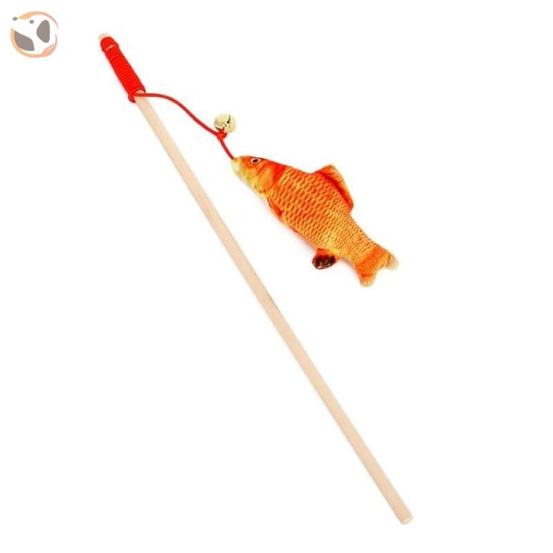 Animal Shaped Feather Teaser Cat Toy - Carp