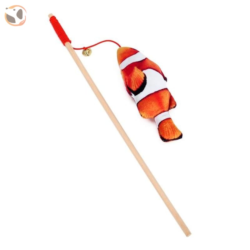Animal Shaped Feather Teaser Cat Toy - Clownfish