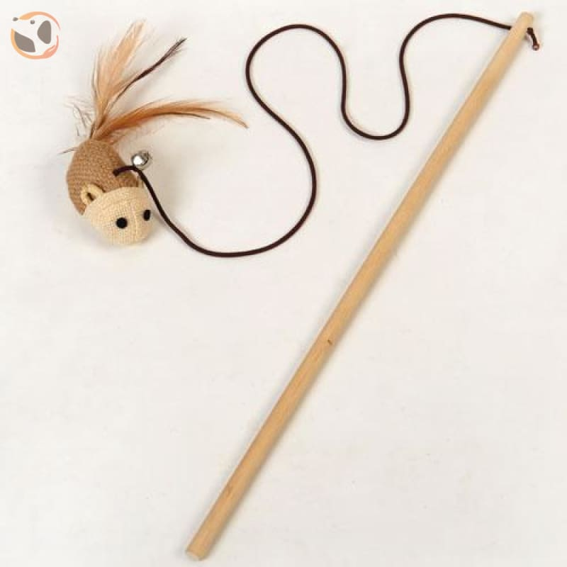 Animal Shaped Feather Teaser Cat Toy - Mouse