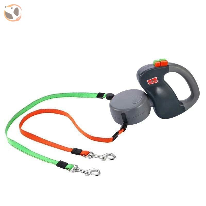 Auto Retractable Double Leashes for Small Dogs