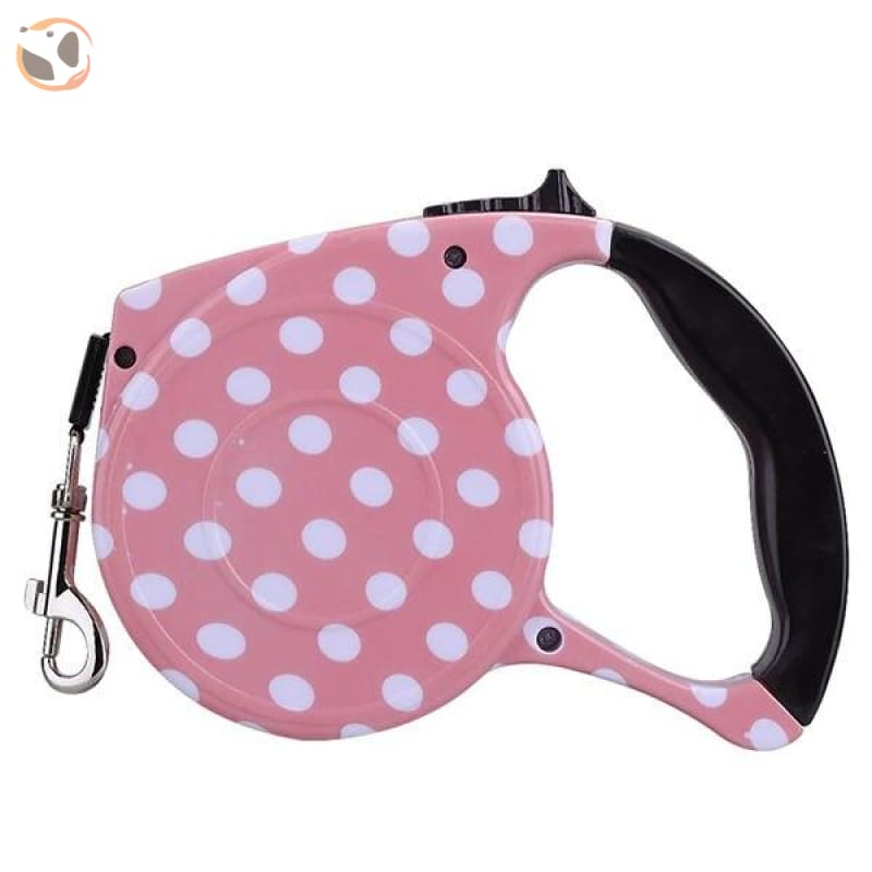 Automatic Retractable Pet Leash for Dogs & Cats - Pink