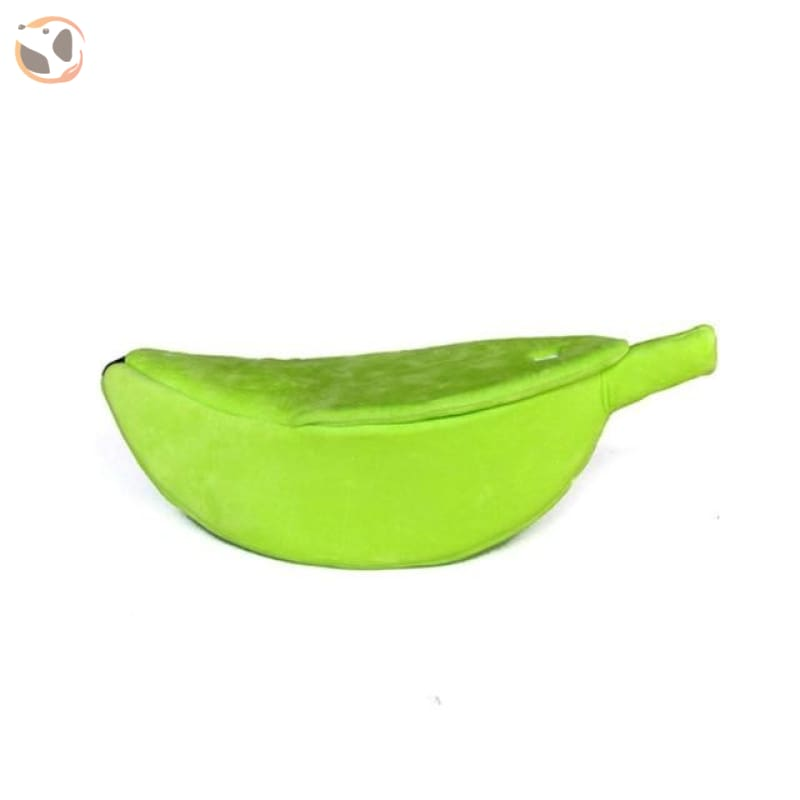 Banana Shaped Cat Bed - Green / For 5.5-11 lbs