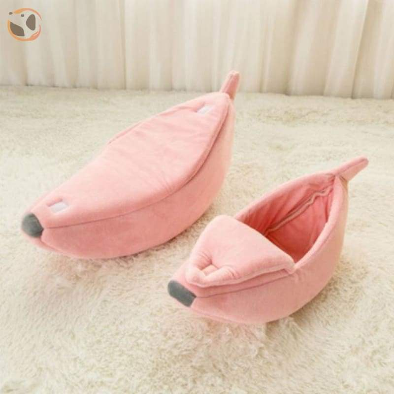Banana Shaped Cat Bed - Pink / For 5.5-11 lbs