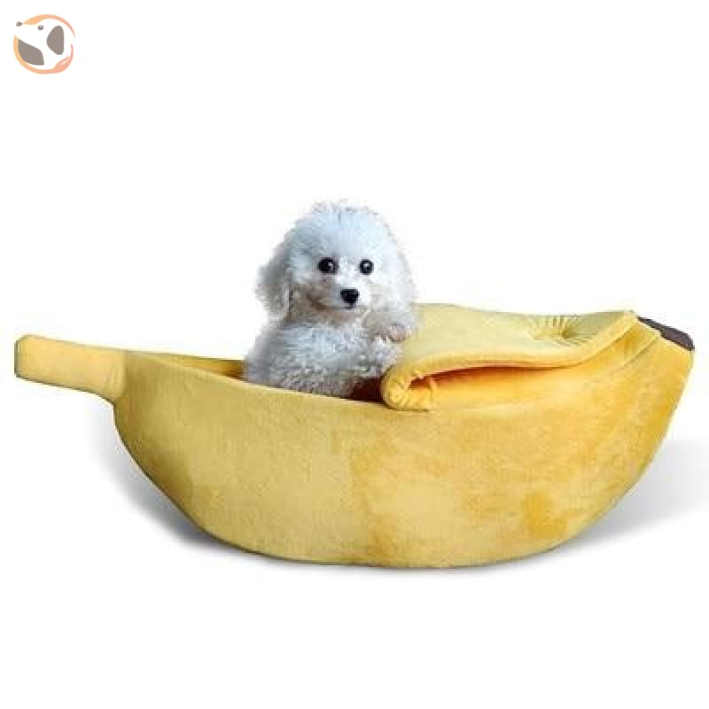 Banana Shaped Cat Bed - Yellow / For 5.5-11 lbs