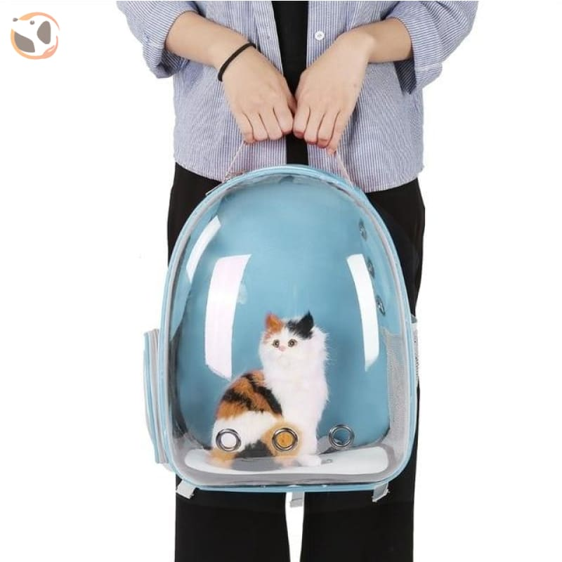Breathable Cat Carrier Backpack - Blue