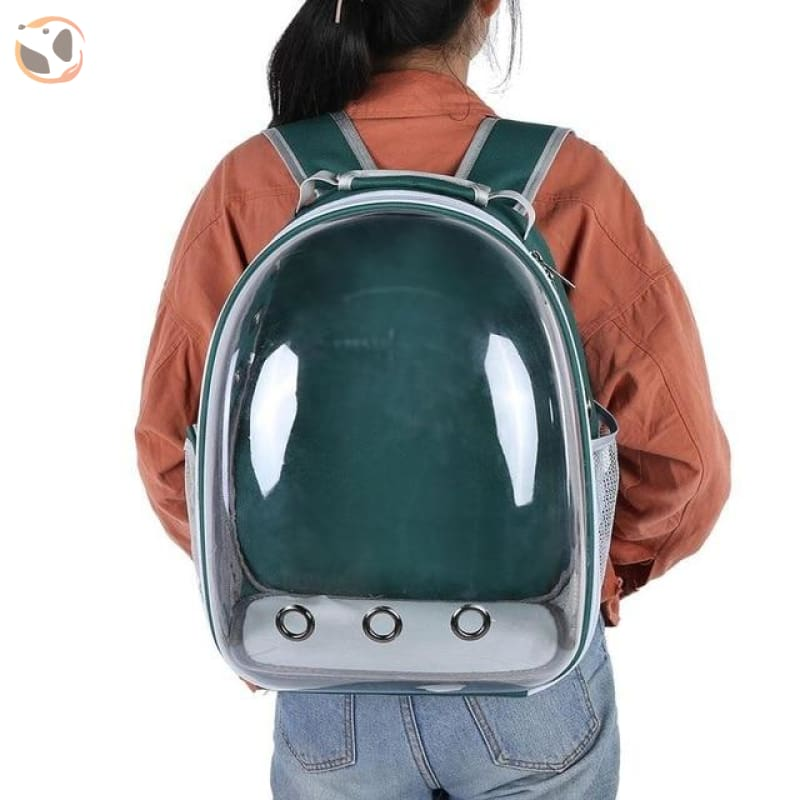 Breathable Cat Carrier Backpack - Green