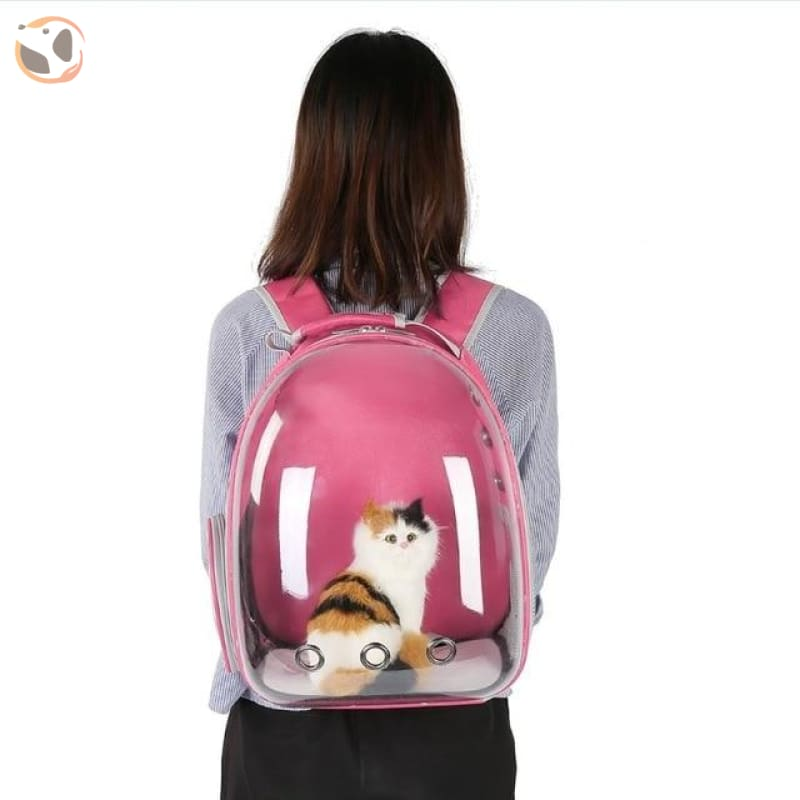 Breathable Cat Carrier Backpack - Pink