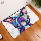 Cartoon Style Dog Painting Anti-slip Floor Mat - American Terrier / 20X32 Inch