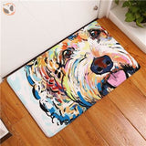 Cartoon Style Dog Painting Anti-slip Floor Mat - Goldendoodle / 20X32 Inch