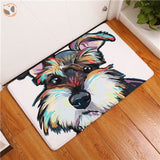 Cartoon Style Dog Painting Anti-slip Floor Mat