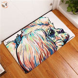 Cartoon Style Dog Painting Anti-slip Floor Mat - Lhasa Apso / 20X32 Inch