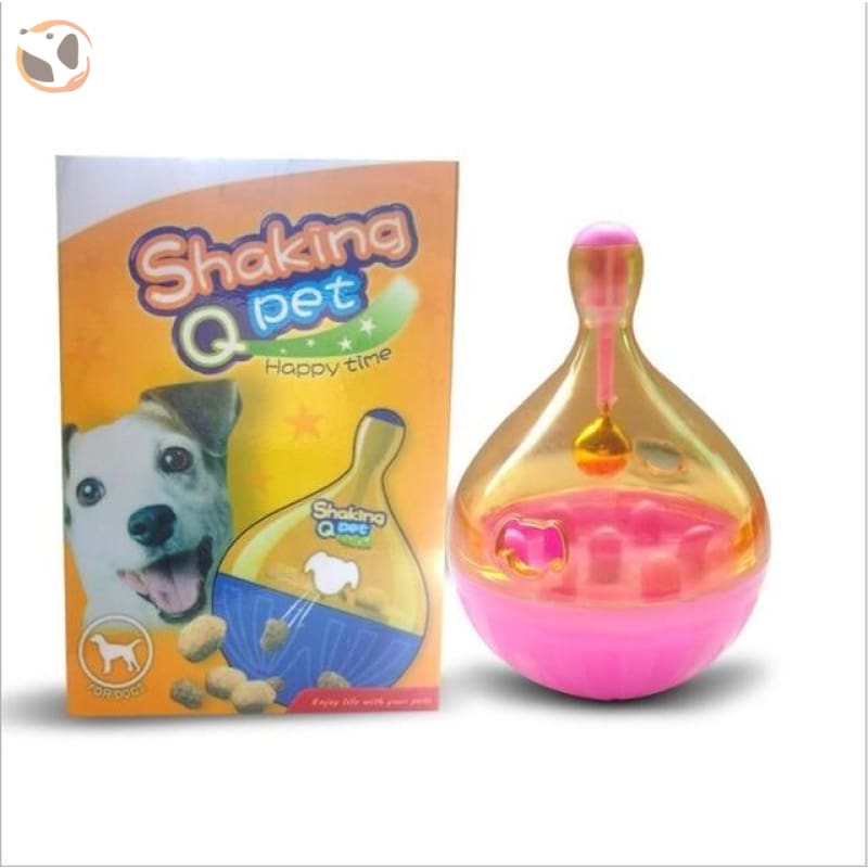 Cat Feeder Toy - Pink and Yellow
