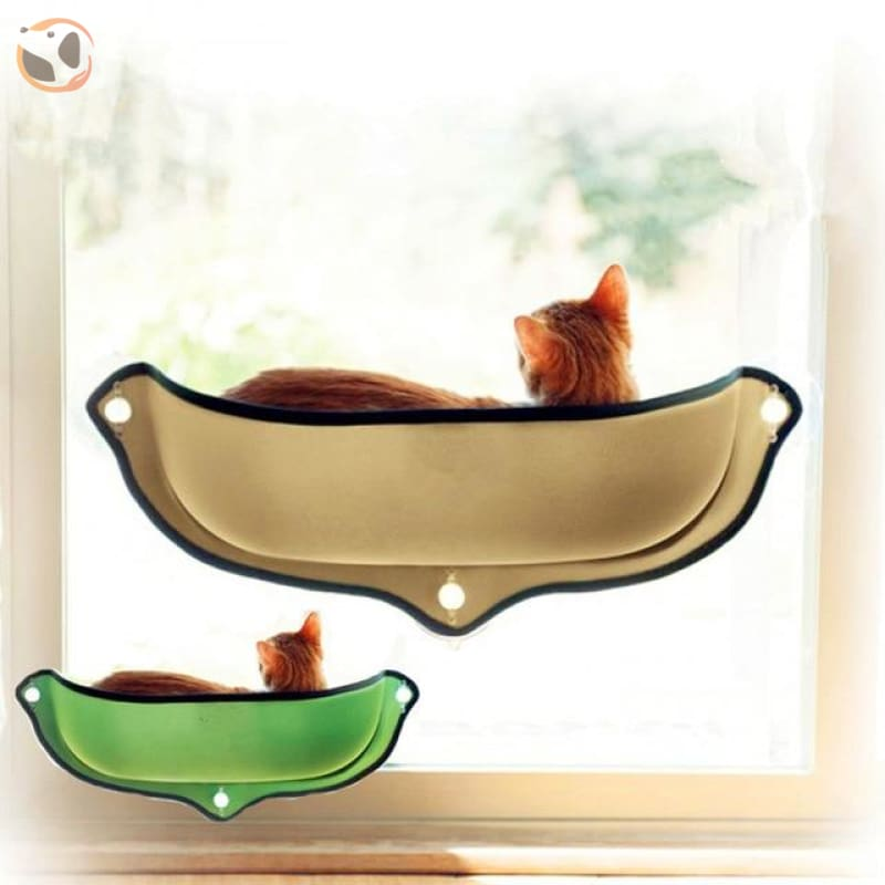 Cat Hammock&Bed with Suction Cups - khaki / 26.7X11