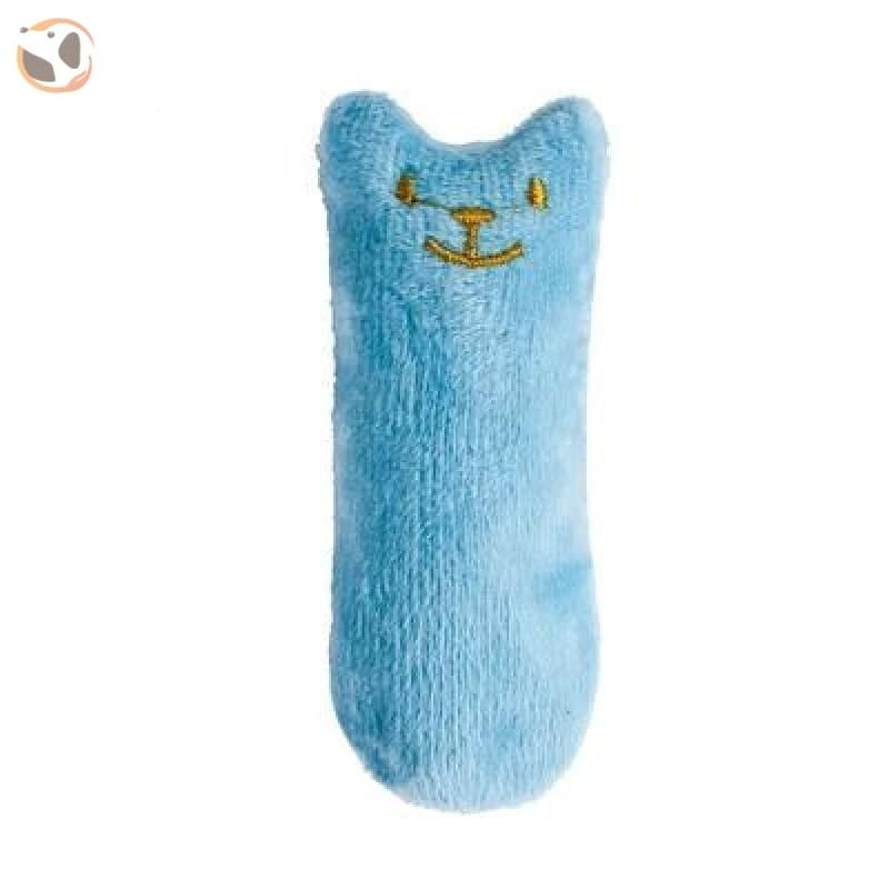 Chewable Catnip Scented Interactive Cat Toy - blue