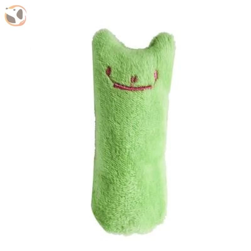 Chewable Catnip Scented Interactive Cat Toy - green