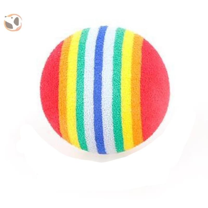 Chewable Catnip Scented Interactive Cat Toy - Rainbow ball