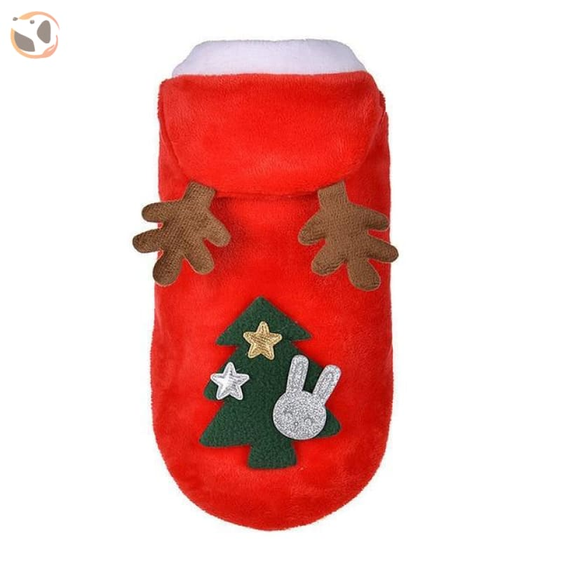Christmas Santa Costume for Small Dogs - Red / L