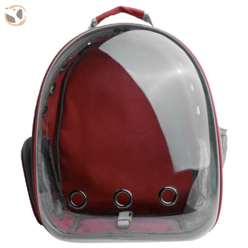 Clear Window Design Car Carrier Backpack - Red