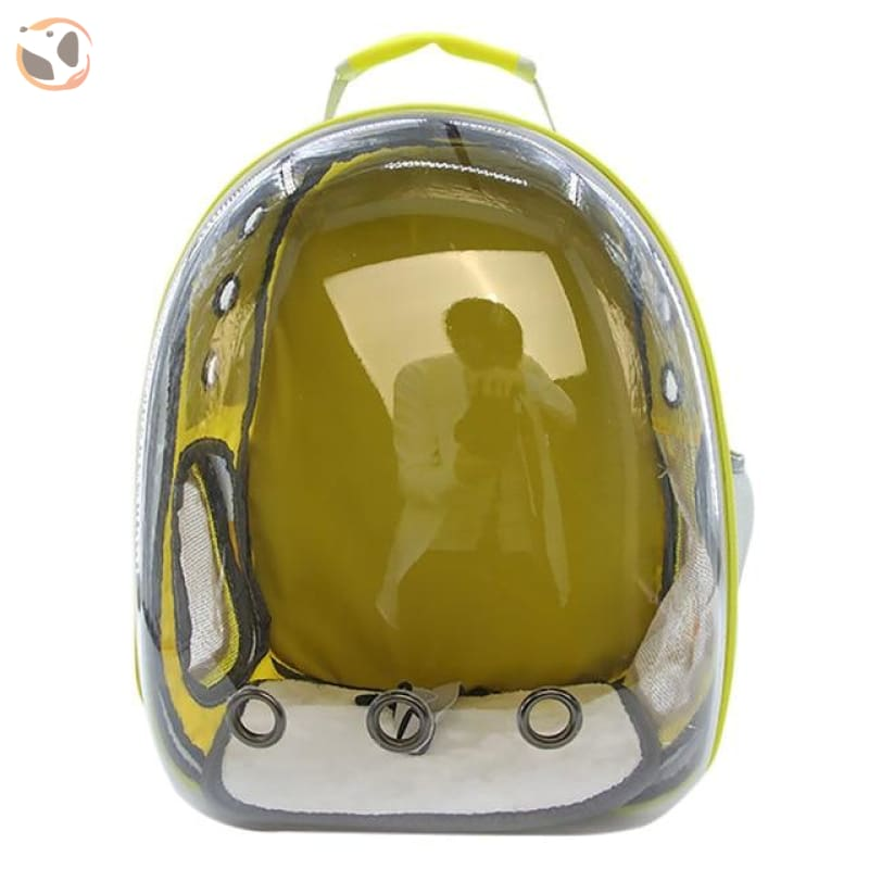 Clear Window Design Car Carrier Backpack - Yellow