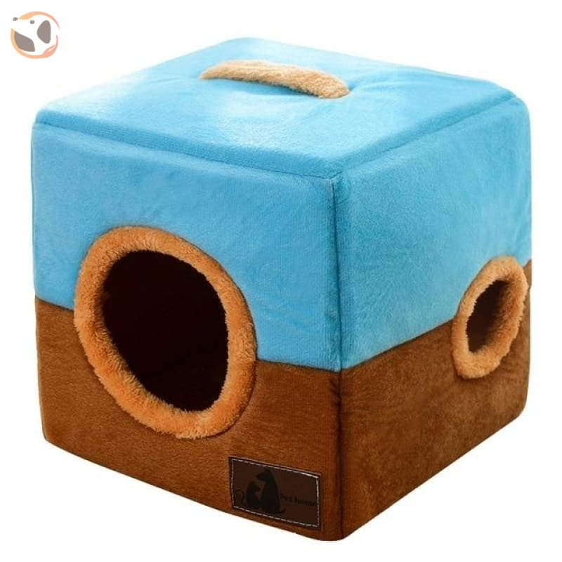 Comfortable Cotton House for Small Pets - Coffee / 18.11 inches