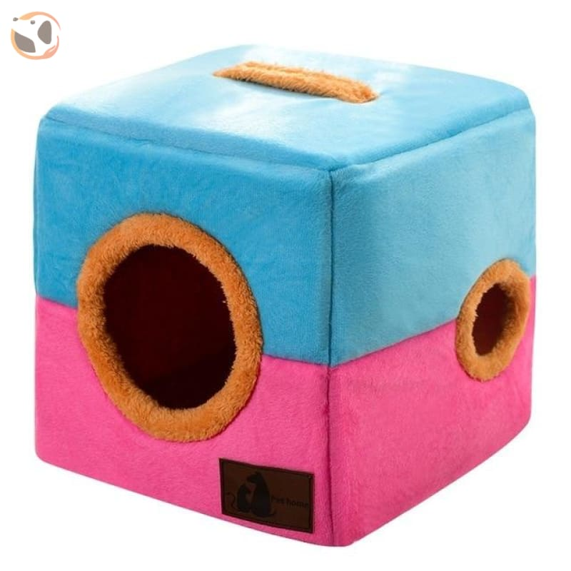 Comfortable Cotton House for Small Pets - Pink / 18.11 inches