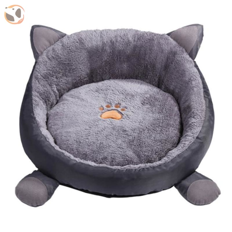 Cotton Bed House for Cats - Grey Cat Bed / M