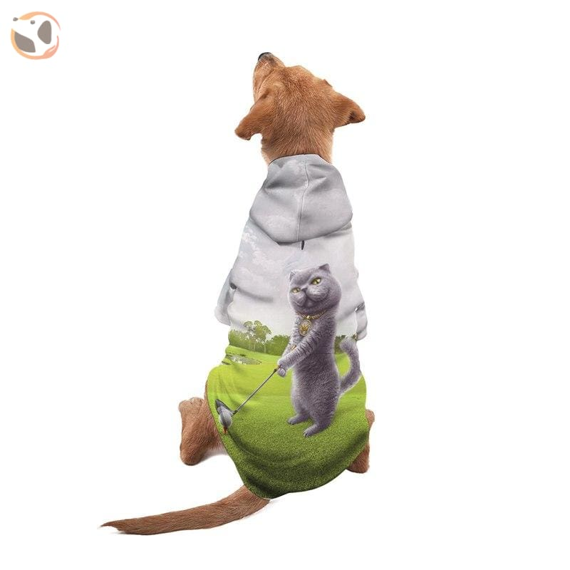 Cute 3D Animal Printed Dog Hoodie - Cat / S
