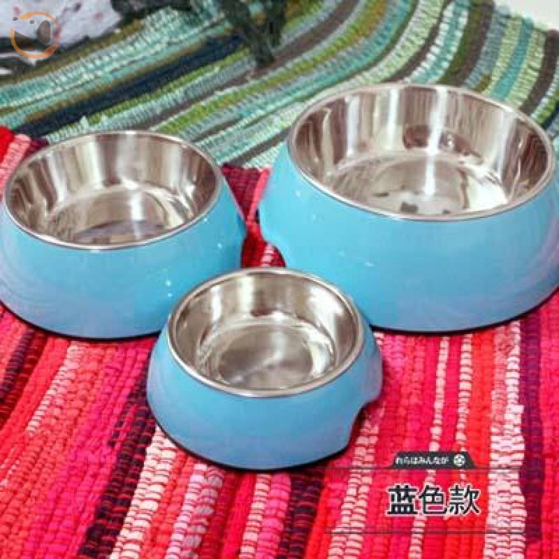 Cute Cartoon Animal&Floral Printed Dog Bowls - Blue / L
