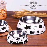 Cute Cartoon Animal&Floral Printed Dog Bowls - Dalmatian / L