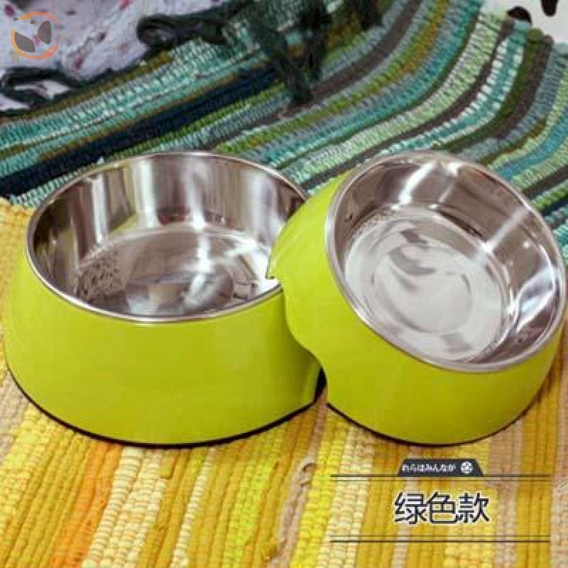 Cute Cartoon Animal&Floral Printed Dog Bowls - Grass Green / L