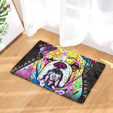 Cute Dog Printed Welcome Floor Mats - Bulldog / 50Cmx80Cm