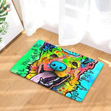 Cute Dog Printed Welcome Floor Mats - German Shepherd / 50Cmx80Cm
