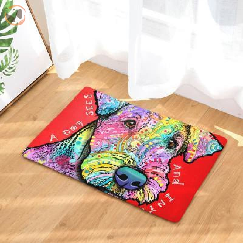 Cute Dog Printed Welcome Floor Mats - Lakeland Terrier / 50Cmx80Cm