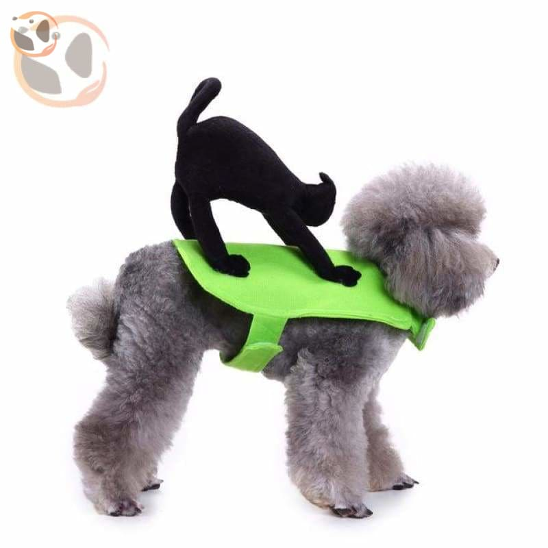 Dog Cosplay Costumes For Halloween - Cat Rider / S