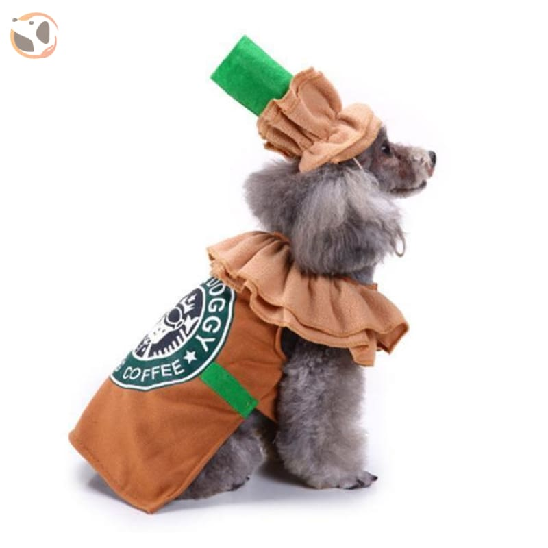 Dog Cosplay Costumes For Halloween - Coffee / S