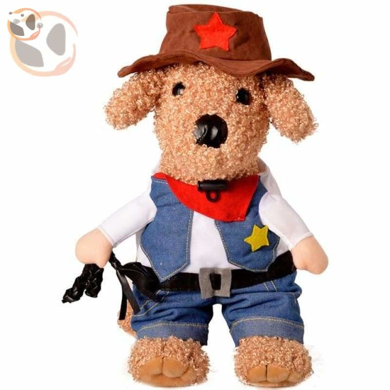 Dog Cosplay Costumes For Halloween - Cowboy / S
