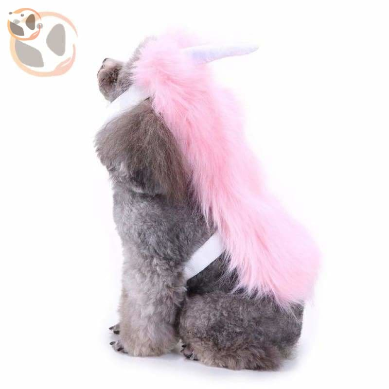 Dog Cosplay Costumes For Halloween - Pink Fur / S
