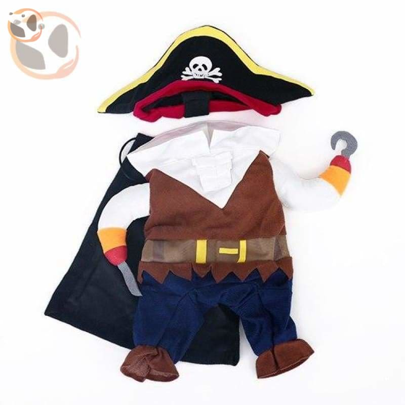 Dog Cosplay Costumes For Halloween - Pirate / S