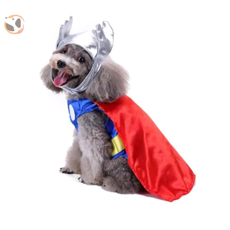 Dog Cosplay Costumes For Halloween - Thor / S