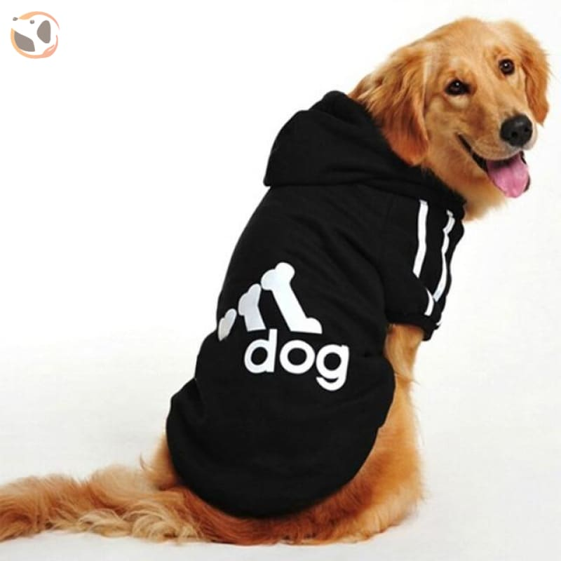 Dog Hoodies Sportswear For Large Dogs - Black / M