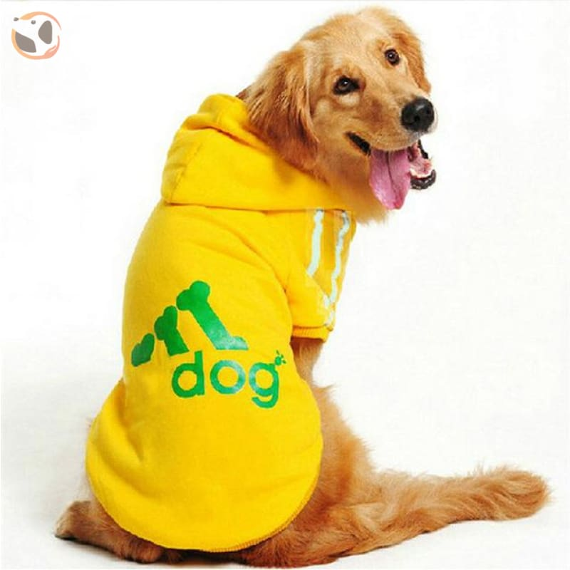 Dog Hoodies Sportswear For Large Dogs - Yellow / M