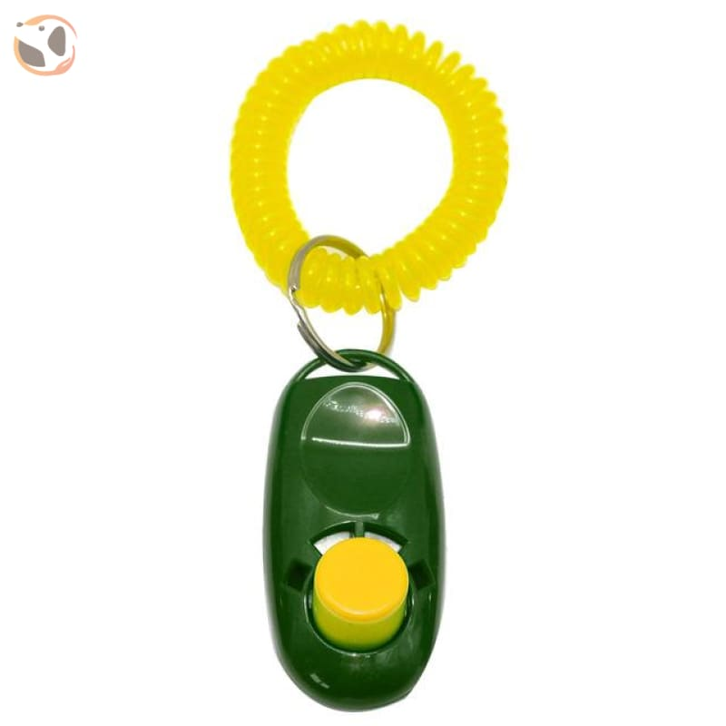 Dog Training Clicker With Wrist Strap - S / Green