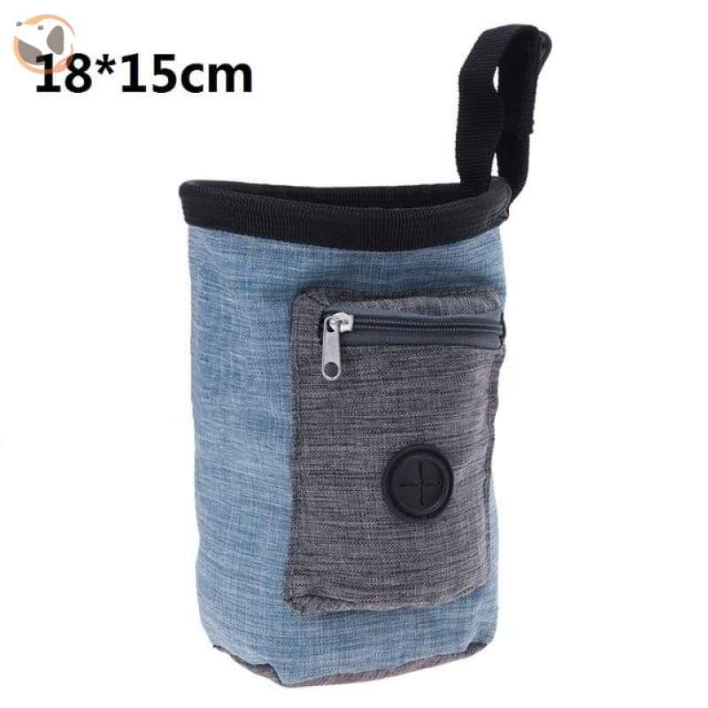 Dog Training Waist Bag For Snack Reward - Blue