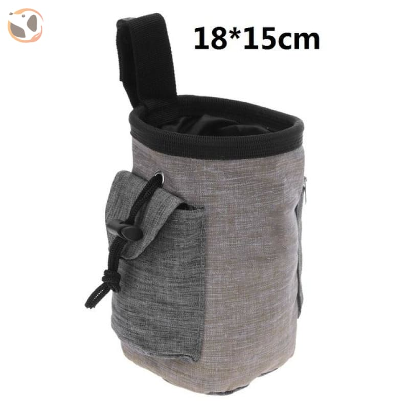 Dog Training Waist Bag For Snack Reward - Brown