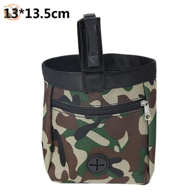 Dog Training Waist Bag For Snack Reward - Camouflage