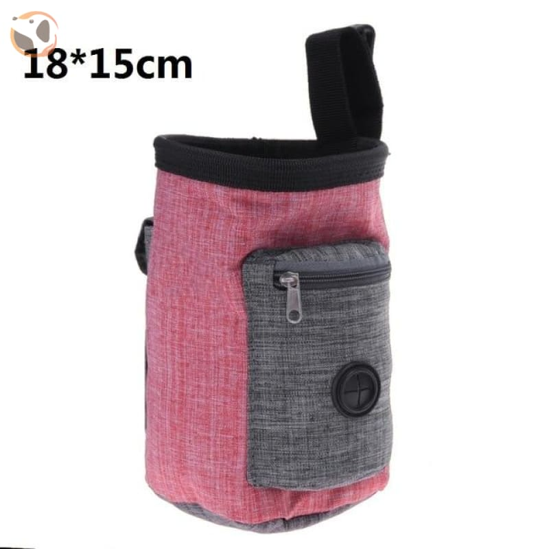 Dog Training Waist Bag For Snack Reward - Maroon