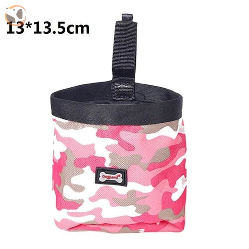 Dog Training Waist Bag For Snack Reward - Pink Camouflage