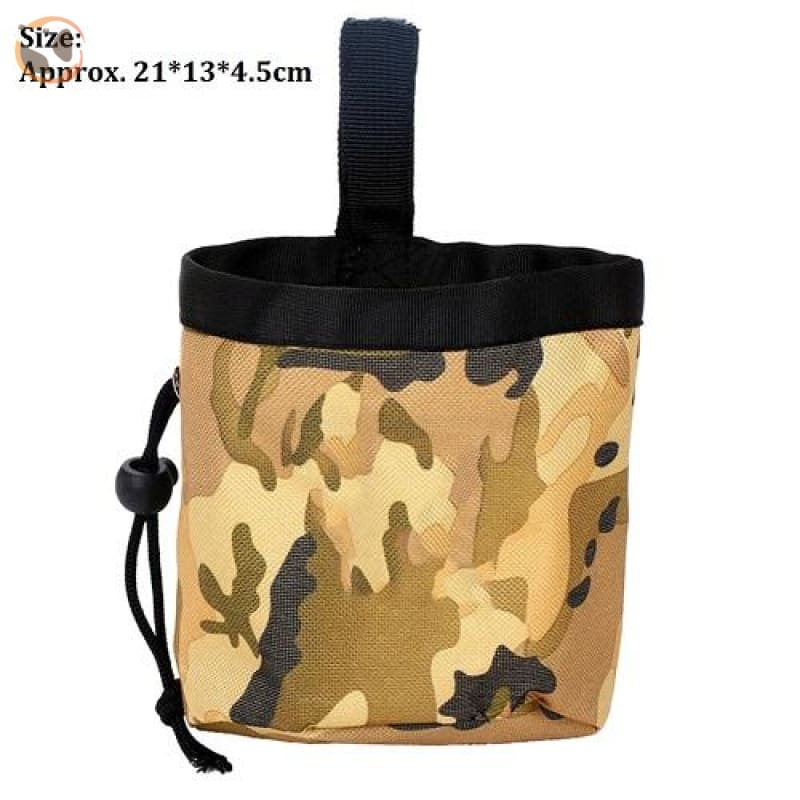 Dog Training Waist Bag For Snack Reward - Yellow Camouflage
