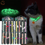 Dogs & Cats Collar with Glowing Bells and Light