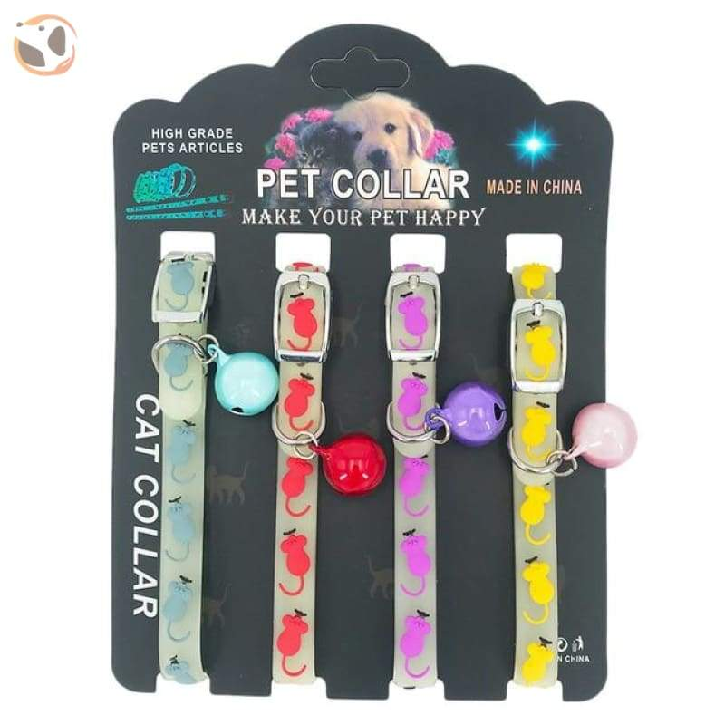 Dogs & Cats Collar with Glowing Bells and Light - Laser bell / 4pcs